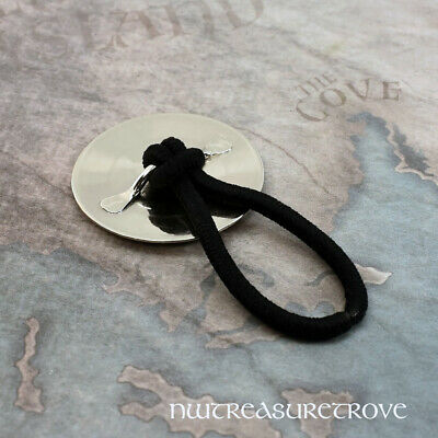 Celtic Hexagon Knot Nickel Silver Hair Tie NHT-5 2