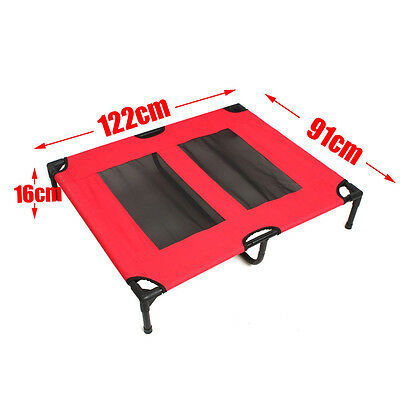 4 Size Heavy Duty Pet Dog Bed Trampoline Hammock Canvas Cat Puppy Cover AU Stock 9