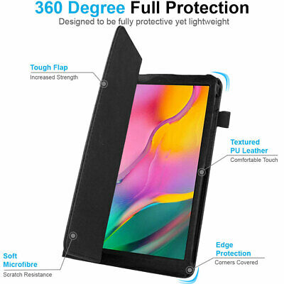 """for Samsung Galaxy Tab A 10.1"""" 2019 SM-T510 T515 Leather Flip Case Stand Cover 3"""