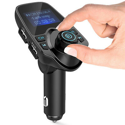 Bluetooth Car FM Transmitter Wireless Radio Adapter USB Charger Mp3 Player 9