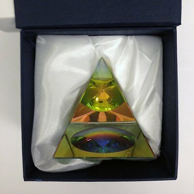 "Crystal Iridescent Pyramid - Rainbow Colors 2.3"" with Gift Box 4"