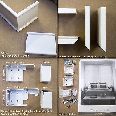 Brilliant White - Wooden Venetian Wood Blind - 3 Slat Choices  - Child Safe 4