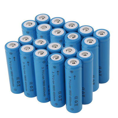 18650 Rechargeable Battery 4000mah Lithium Li-Ion 3.7v AU Charger For Flashlight 6