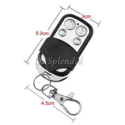 Universal Replacement Garage Door Car Gate Cloning Remote Control Key Fob 433 8