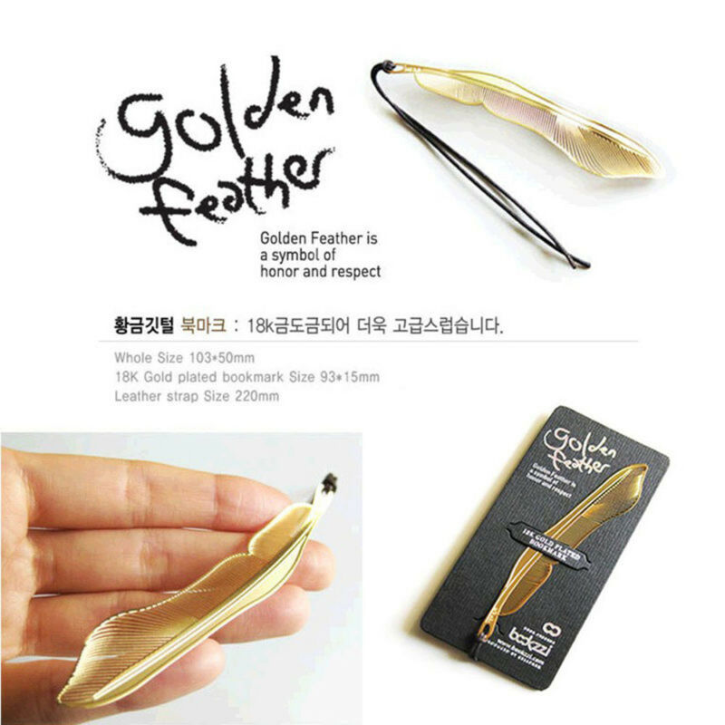 1pc Gold Plated Metal Hollow Animal Feather Bookmark Lovely Book Paper Reading