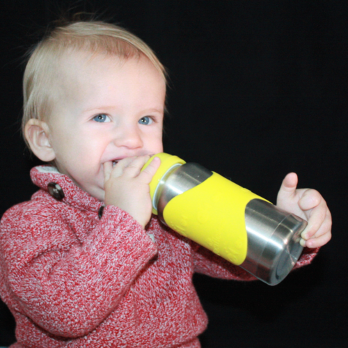 Hot-Tot Stainless Steel Insulated Infant Baby 7 oz Eco Feeding Bottle Silver Yel 4