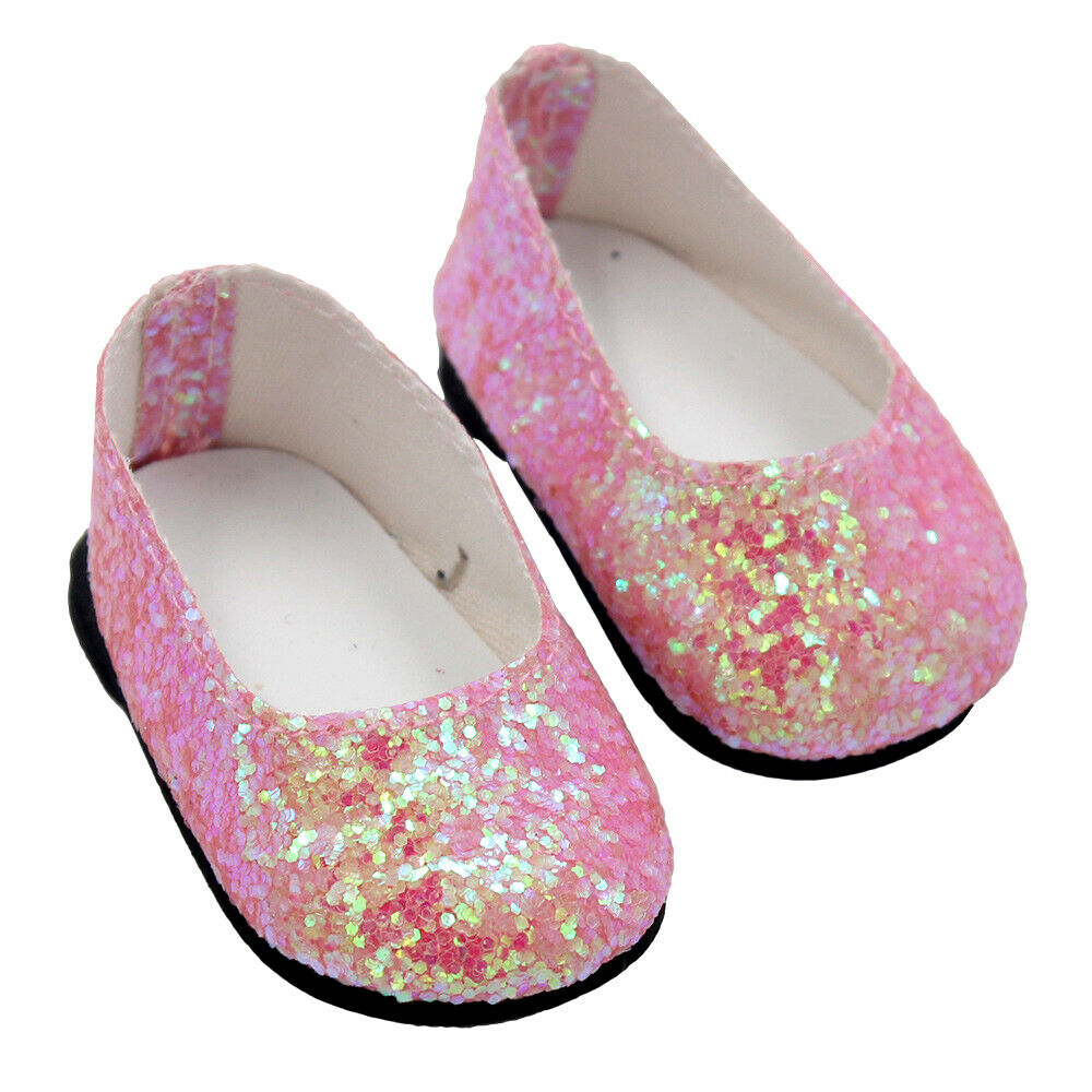 6Pairs Modern Doll Shoes Sparkle Sequined Shoe For 18 inch American Girl Doll 5
