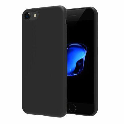 Cover Custodia + Pellicola Vetro Temperato Per Iphone 6/6S 7/8 X/Xs  Nero Opaco 2