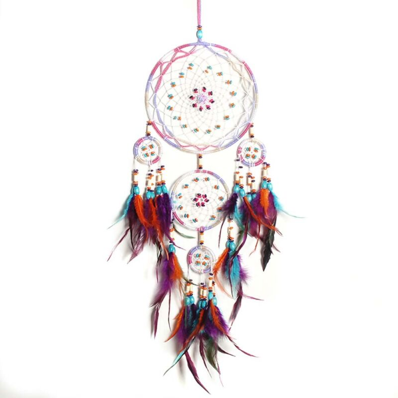 Beautiful Handmade Dream Catcher Feather Wall Hanging Home Decor Ornament Gift 2