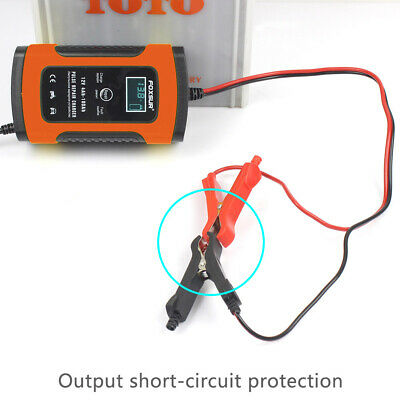 Car Battery Charger 12V 5A LCD Intelligent Automobile Motorcycle Pulse Repair UK 11