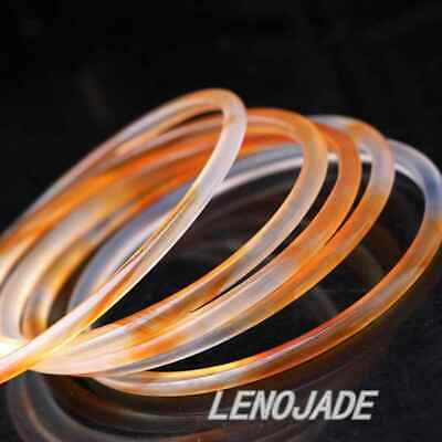1x Thin and Small 54MM Chinese Icy Translucent Red Natural Jade Bangle Bracelet 5