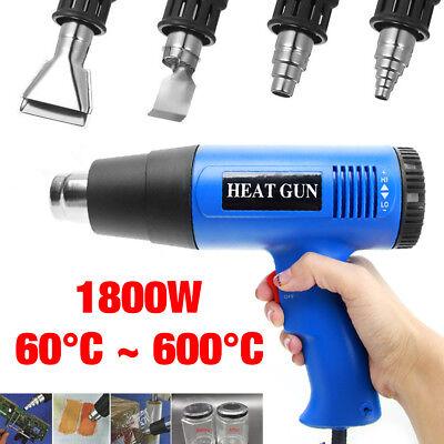 220V 1800W Electric Heat Gun LCD Digital Temperature Hot Air Heating Tool Set 2