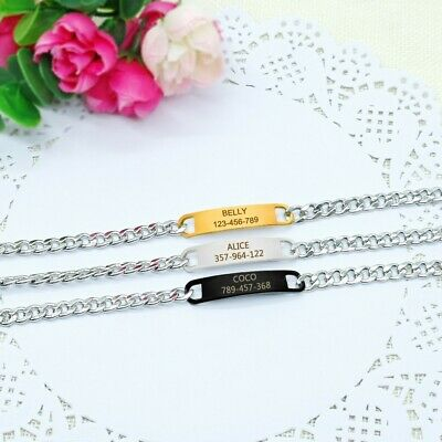 Personalized Stainless Steel Chain Dog Collar With Free Engraved ID Name Tags 7
