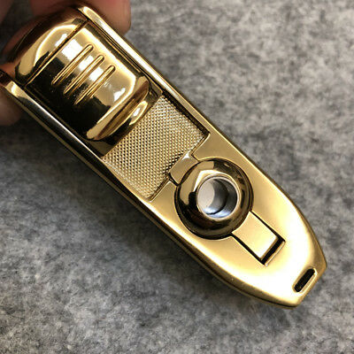Jobon Triple Jet Flame Windproof Cigarette Torch Lighter Cigar Punch Brown Box 3
