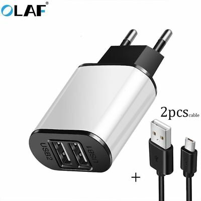 5V 2A EU Dual USB 2-Port Fast Charger Mobile Phone Wall Power Adapter For iPhone 7
