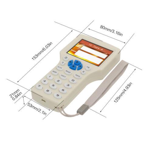 2018 10 FREQUENCY IC NFC ID Card RFID Writer/Copier/Reader/Duplicator  W/Keyfob