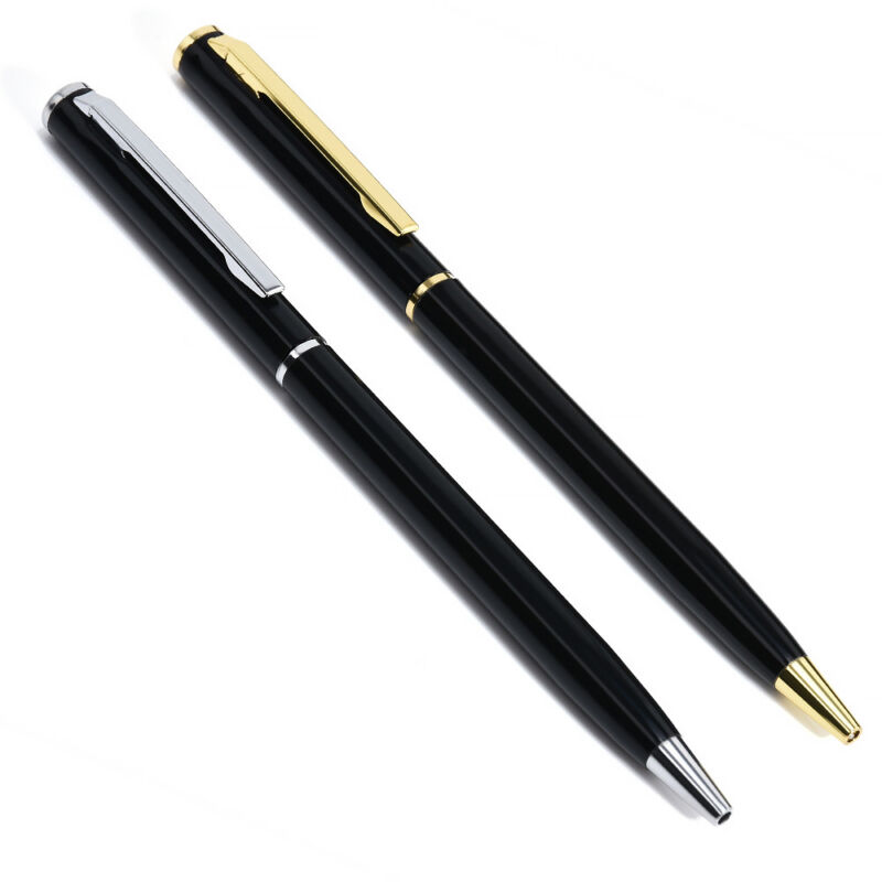Pen Office Ballpoint Writing Pens Stationery Study School Supplies Black Gold 4
