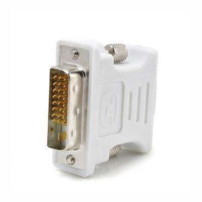DVI to VGA SVGA Converter Adapter DVI-D Dual Link 24+1 pin Male to 15 Female New 5