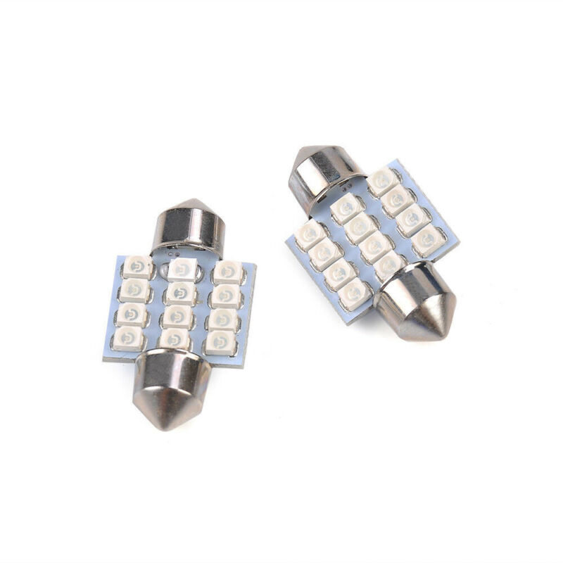 13x Auto Car Interior LED Lights For Dome License Plate Lamp 12V Kit Accessories 5