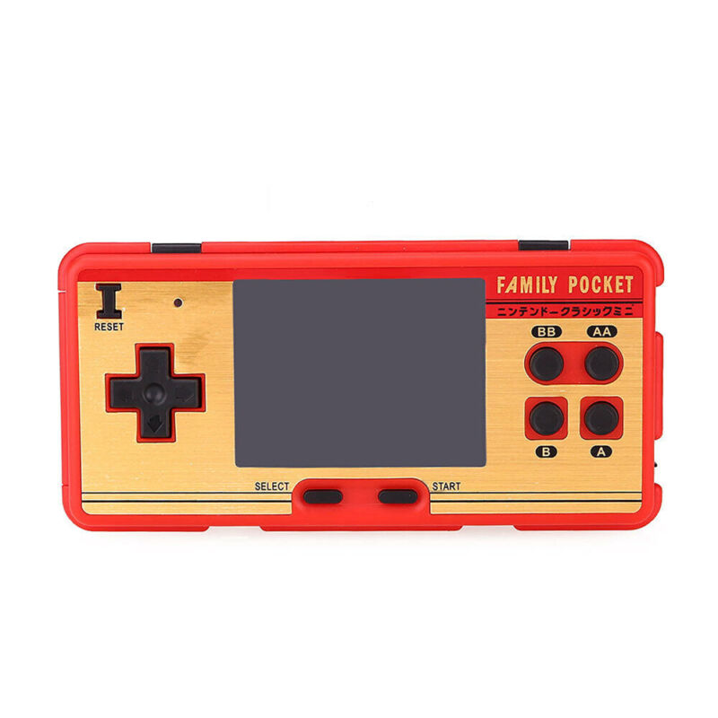 Mini Retro Portable Handheld Game Player Family Pocket Built in 638 Classic Game 2
