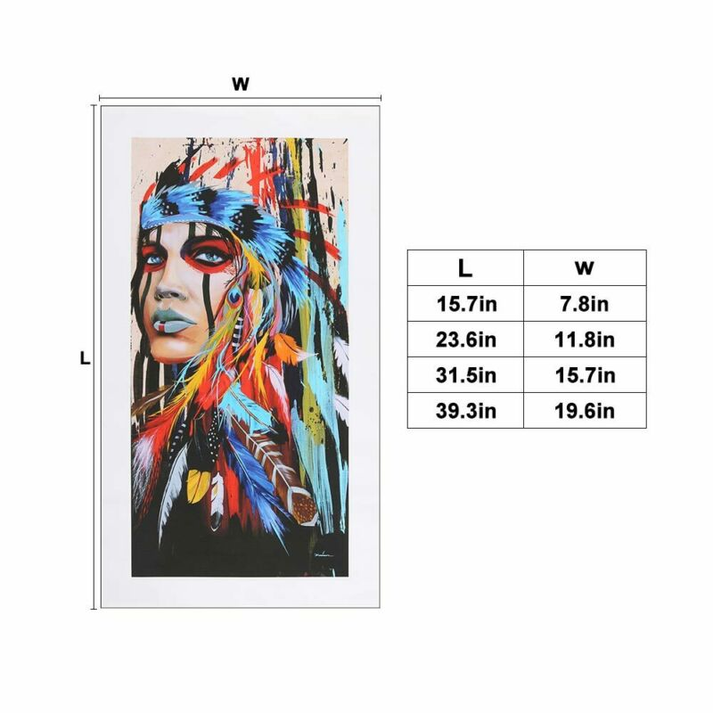 Abstract Indian Woman Canvas Oil Painting Print Picture Home Wall Art Decor UK 9