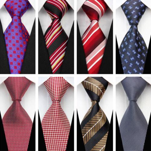 Blue Grey Black Red White Purple Wedding Stripe Plaid Dots Necktie Silk Mens Tie 8