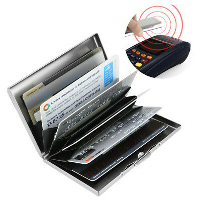 New Deluxe Wallet ID Credit Card Holder Anti RFID Blocking Stainless Steel Case 2