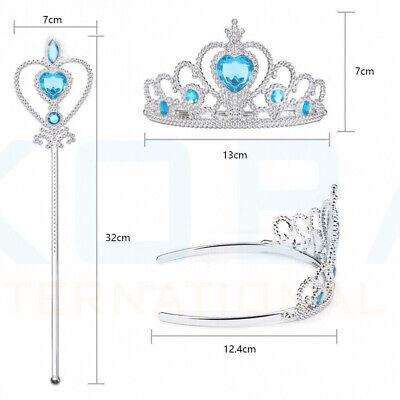 Vicloon Ice Princess Elsa Accessories Set  Tiara Crown and Magic Wand Girls Gift 6