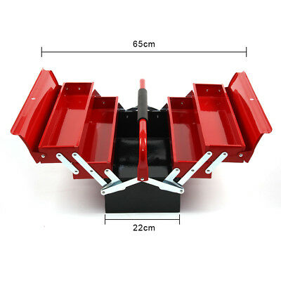 LASER TOOLS NEW RED METAL TOOLBOX Tool Box Cantilever 5 Tray LARGE 560mm