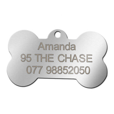 Stainless Steel Personalized Dog Tags Custom Engraved Cat Dog Name ID Phone Tag 7