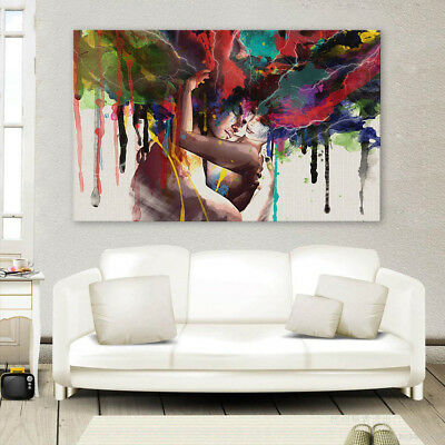 Couple Abstract Living Room home decor Painting Classical Canvas Print wall art 2