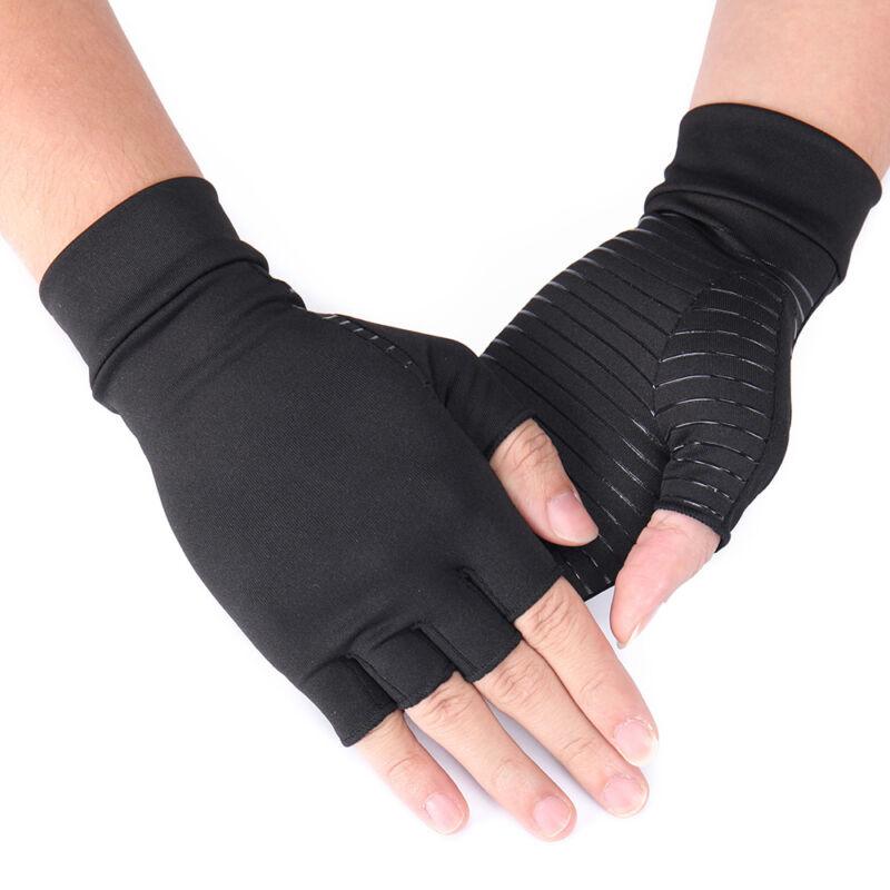Copper Anti Arthritis Gloves Compression Hand Stiffness Carpal Tunnel Pain Brace 10