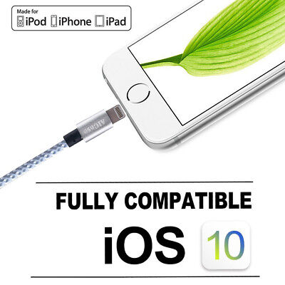 Certified Apple Lightning Cable 3 - 10 FT MFi USB Charger f iPhone 7 6s 6 8 Plus 6