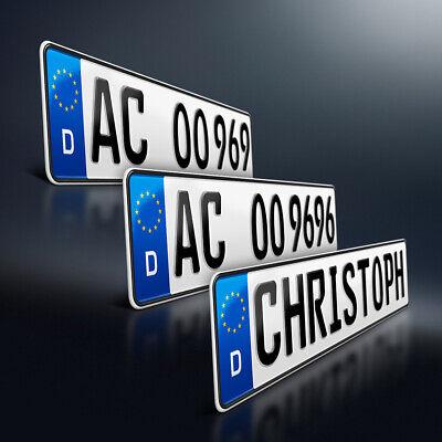 2x Kfz-Kennzeichen | 520 x 110 mm | Nummerschild | Autoschild | DHL-Versand 8