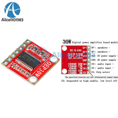OEP30W Digital Mono 1 Channel Amplifier Board Module 30W DC 8-24V D Class AD130