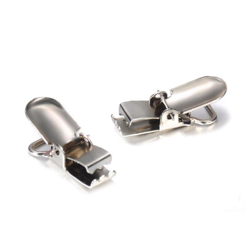 10PCS Insert Pacifier Metal Holder Suspender Clips Mitten For DIY Craft 10mm Lot 2
