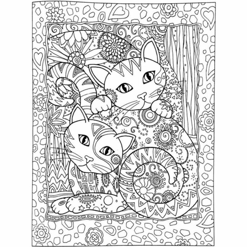 Haven Creative Cats Colouring Book Adults Stress Reliever Secret Garden Gift 6