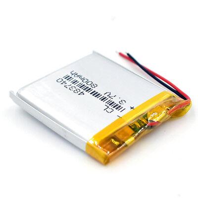 10pcs 483740 Rechargeable Battery 3.7V 800mAh Li-Polymer Li-ion LiPo for GPS MP3 9