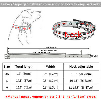 Reflective Personalised Dog Collar Cat Puppy Small Dog Collar Name Phone Engrave 2