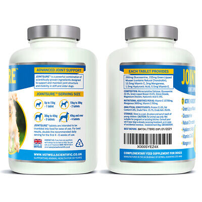 JOINTSURE Dog Joint Supplement More Active Ingredients Than The Leading Brand 2