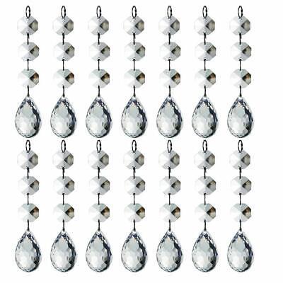 30 Christmas Clear Acrylic Crystal Glass Ball Ornaments Holiday Craft Decoration 2