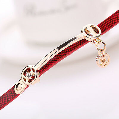 2016 Mode Femmes Montre Femmes acier inoxydable bracelet en cuir poignet montres 11