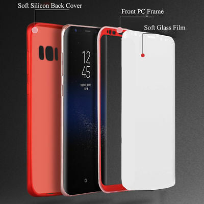 For Samsung Galaxy S8 / S8 Plus 360° Full Body Hard Case Cover+Screen Protector 2