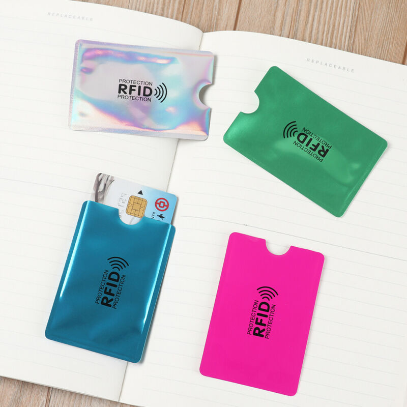 Credit Cards Card Holder Protect Case Cover RFID Blocking Sleeve Wallet 7
