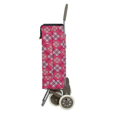 Carro de la Compra Compras 4 Ruedas con 2 Bolsillos rombo rosa Calidad envio 24h 4