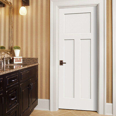 3 Of 7 Craftsman Panel Primed Molded Solid Core Wood Composite Interior Doors Prehung