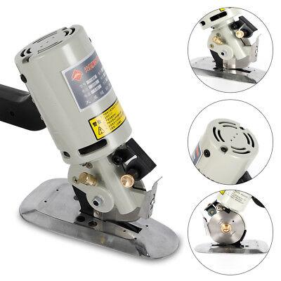 90MM Rotary Blade Electric Fabric Cutter Round Cut Cloth Cutting Machine 110V US 2