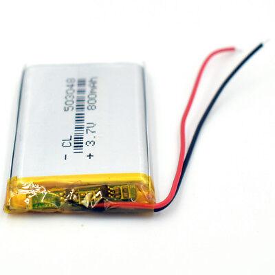 10Pcs 503048 3.7V 800 mAh Battery Rechargeable Li-Polymer LiPo for GPS Bluetooth 8