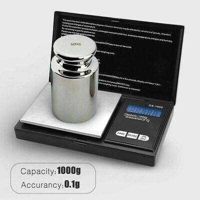 Pocket 1000g x 0.1g Digital Jewelry Gold Coin Gram Balance Weight Precise Scale 2