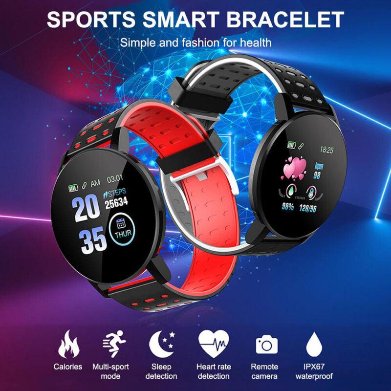 Smart Watch Fitness Tracker Blood Pressure Heart Rate Tempered Mirror Waterproof 3